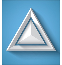 Realistic geometrical background with triangle vector image