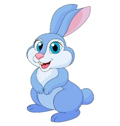 Cute rabit cartoon vector image