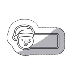 figure sticker poster snowman icon vector image