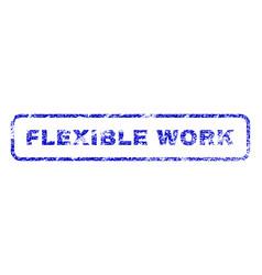 Flexible work rubber stamp vector