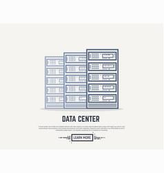 Server room line vector