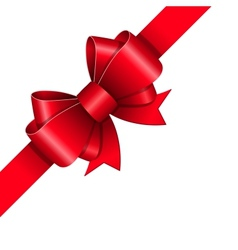 Red ribbon bow vector