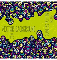 Hand-drawn abstract background vector