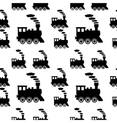Locomotive seamless pattern vector