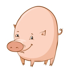 Cartoon piglet vector