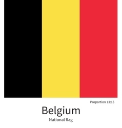 National flag of belgium with correct proportions vector