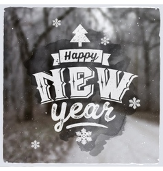 Happy new year creative graphic message for vector