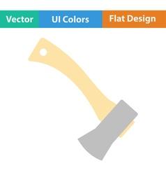 Flat design icon of camping axe vector