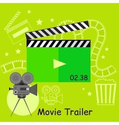 Movie trailer camera with slapstick vector