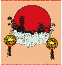 Mid-Autumn Festival for Chinese New Year vector image