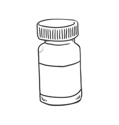Medicine jar icon medical and health care design vector