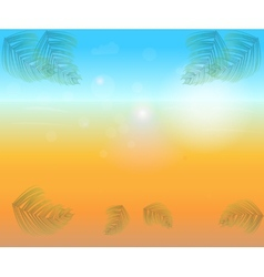 Abstract bright sunny background vector image
