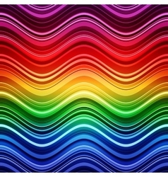 Abstract rainbow stripes waves colorful background vector image