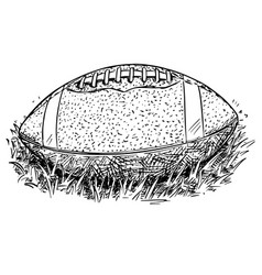 american football ball hand drawing vector image