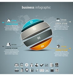 Business Infographic vector image vector image