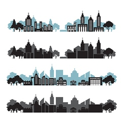Cityscapes set vector