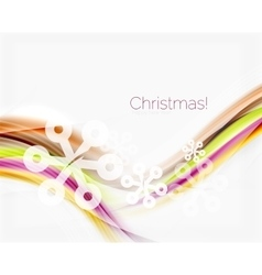 Color wave line with snowflakes winter vector image vector image