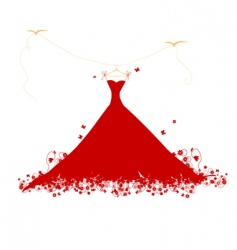 dress on hanger vector image vector image