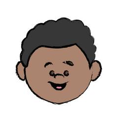 face cute little boy kid avatar person vector image vector image