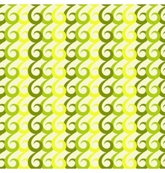 Green swirls seamless pattern vector