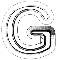 Grunge Font letter G vector image