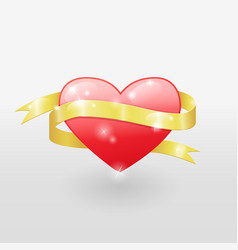 Heart and ribbon vector