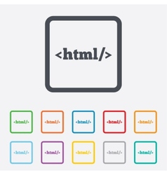 Html sign icon markup language symbol vector