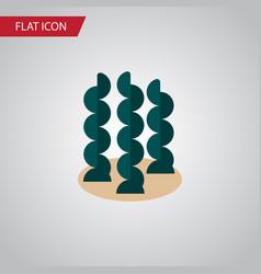 Isolated seaweed flat icon alga element vector