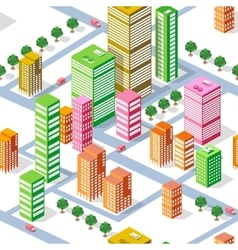 Isometric seamless town vector