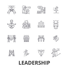 leadership leader management teamwork lead vector image