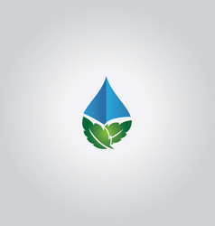 Leaf droplet logo vector