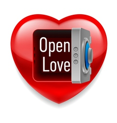Open Love image vector image vector image