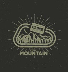 outdoor adventure label vintage design vector image vector image