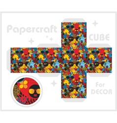 Paper cube for children games and decoration vector image vector image