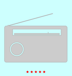 Radio it is icon vector