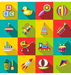 Set kids toys vector image vector image