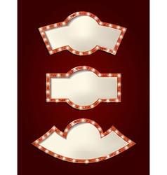 Set of glowing retro frames vector image