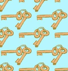 Sketch keys in vintage style vector image vector image
