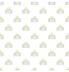 Taj mahal pattern cartoon style vector