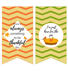 thanksgiving backgrounds with quote holiday pie vector image vector image