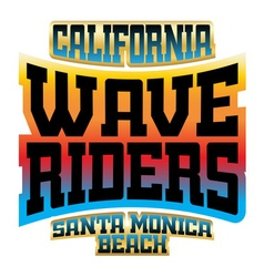 Wave riders t shirt typography graphics logo vector image vector image