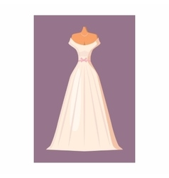Wedding dress icon in cartoon style vector image