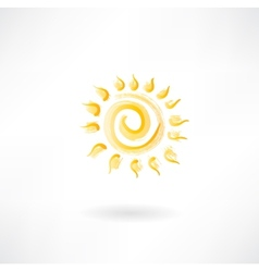 Yellow sun vector image vector image