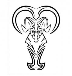 aries tattoo vector image