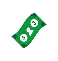 bill money dollar icon design vector image
