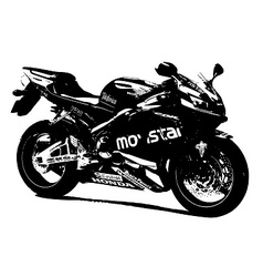 Honda racing bike vector