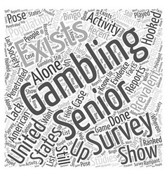 Bwg senior gambling word cloud concept vector