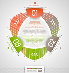 Abstract infographics design with numbered element vector image