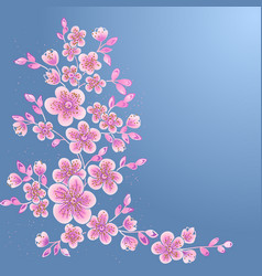 Hand drawn decorative floral vector