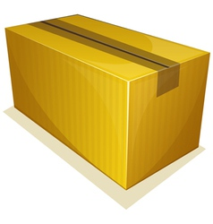 Parcel package sealed with tape vector